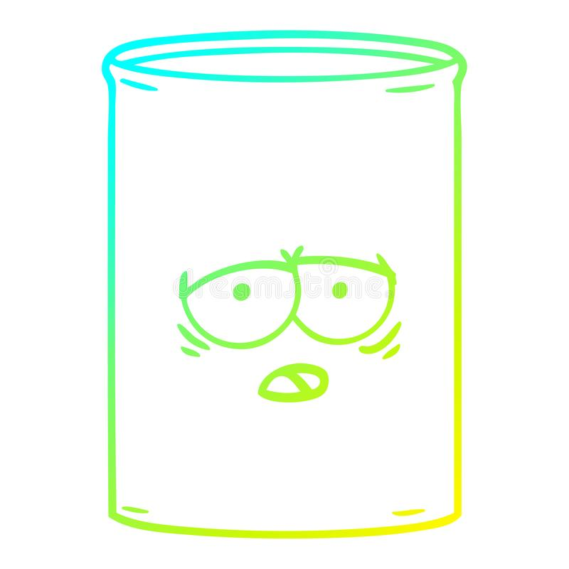 A creative cold gradient line drawing cartoon oil drum. An original creative cold gradient line drawing cartoon oil drum vector illustration