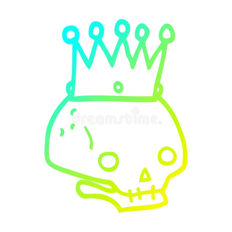 Skull Crown Spooky Scary Halloween King Queen Cute Cartoon