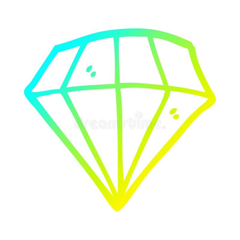 Diamond Tattoo Jewel Gem Objects Cute Cartoon Cold Line