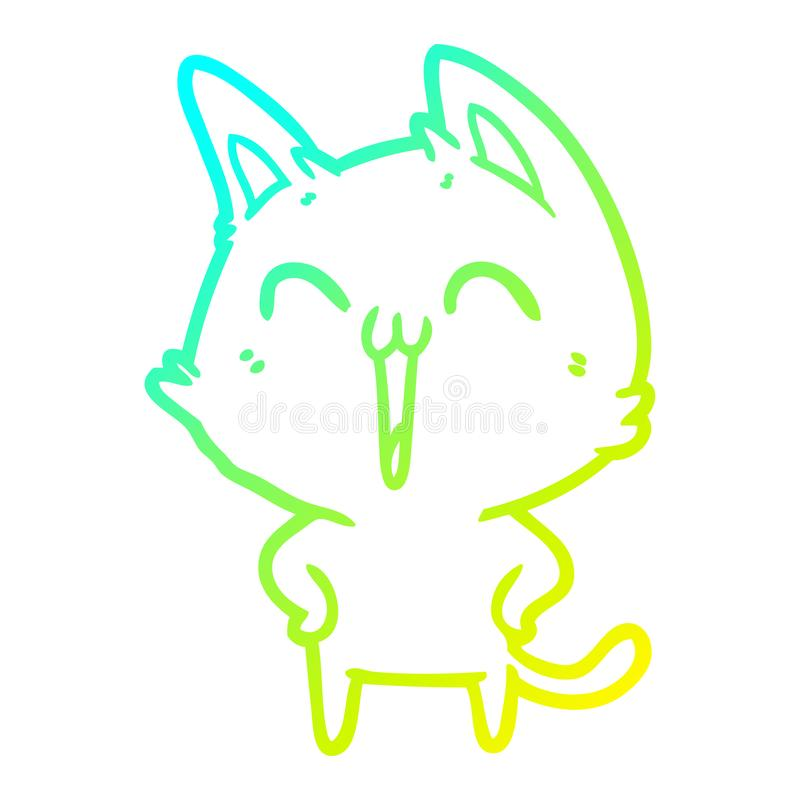Cat Animals Happy Laughing Singing Meow Cute Cartoon Cold Line Gradient Spectrum Drawing Illustration Retro Doodle Freehand Free Hand Drawn Quirky Art Artwork Funny Character Meowing Meow Stock Illustrations 14 Cat,Patty Pan Squash