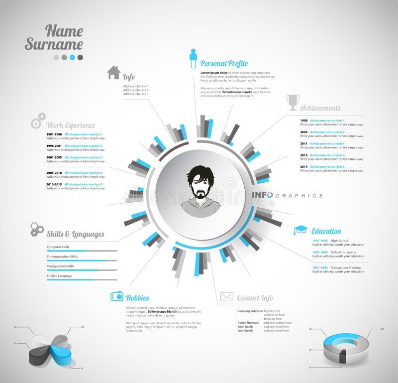 creative  color rich cv    resume template stock vector