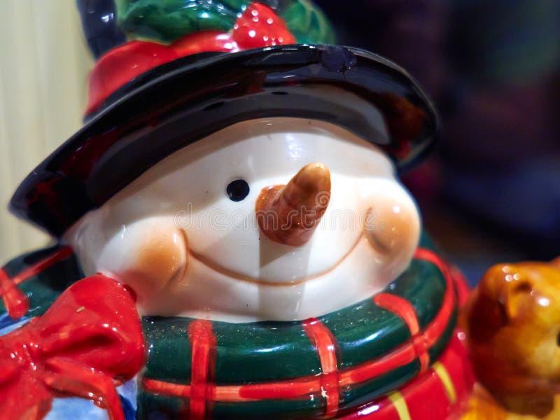 Creative colorful figurine of Santa Claus stock image