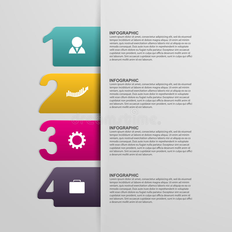 Creative colorful numbered infographic. Design elements. Creative colorful numbered infographic. Vector illustration royalty free illustration