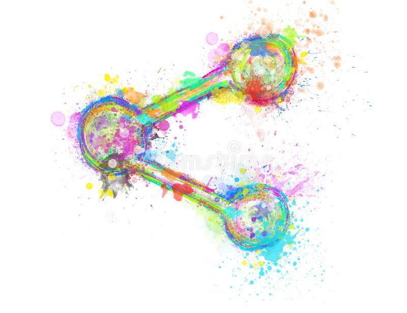Creative colorful share icon on white background royalty free illustration