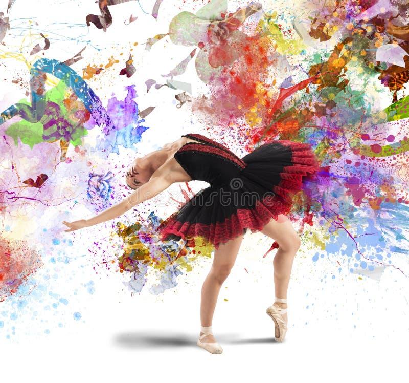 Creative colourful dancer stock image