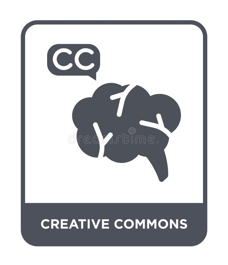 creative commons icon in trendy design style. creative commons icon isolated on white background. creative commons vector icon vector illustration