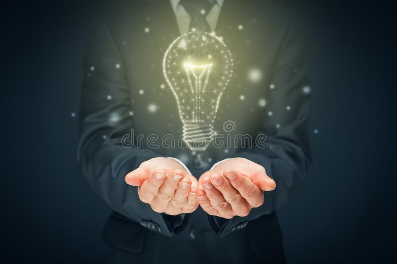 Turn on creativity, idea and intelligence concepts royalty free stock photo