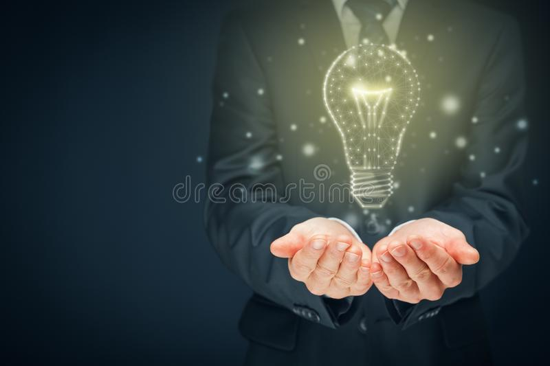 Turn on creativity, idea and intelligence concepts royalty free stock image