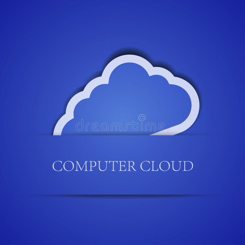Download Creative Computer Cloud Background.  Illustration Stock Vector - Image: 25118659