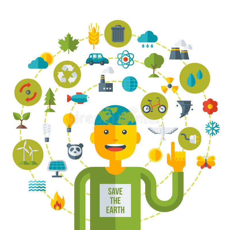 Creative concept of Ecology Science vector illustration