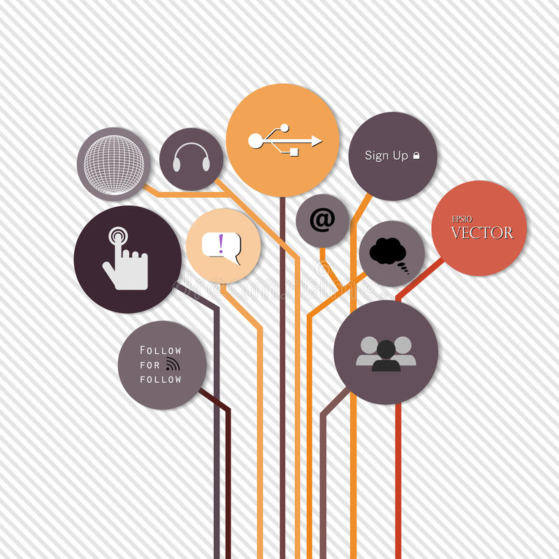 Creative concept growth Tree idea Vector stock illustration