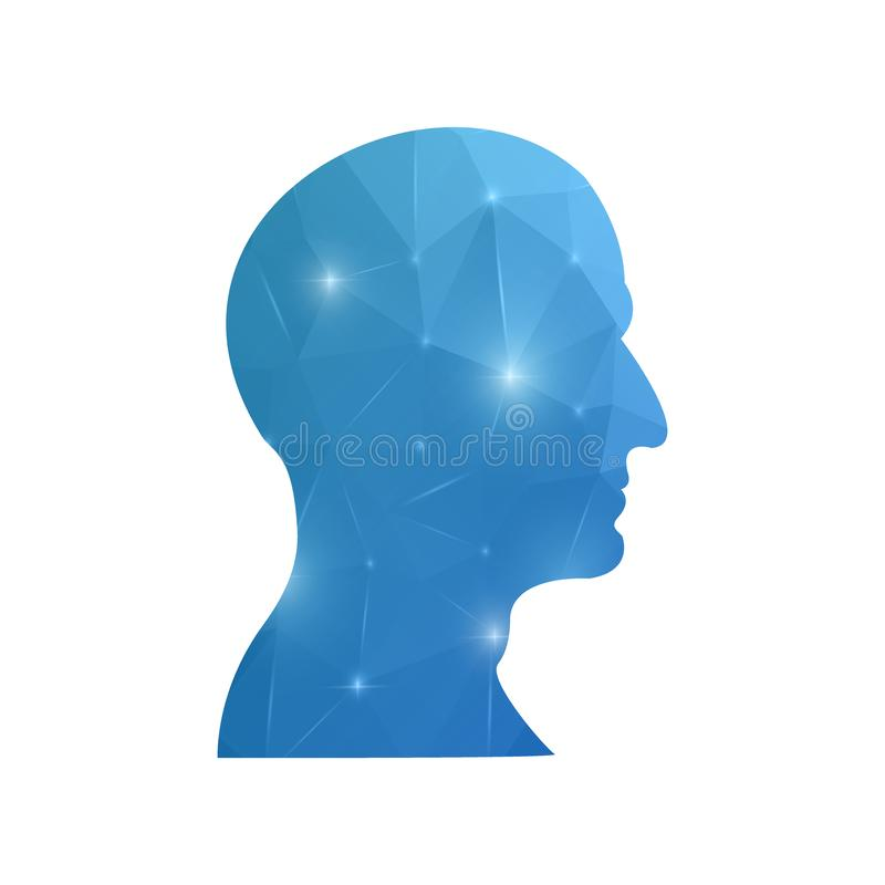 Creative concept head silhouette for Web and Mobile Applications isolated on background. illustration, creative template design,. Business software and social vector illustration