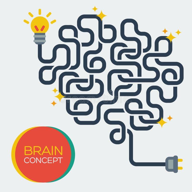 Creative concept of the human brain, vector stock illustration