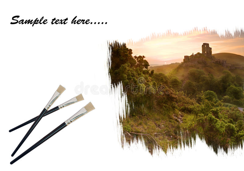 Download Creative Concept Image Of Paint Brushes Painting Stock Image - Image: 21277163
