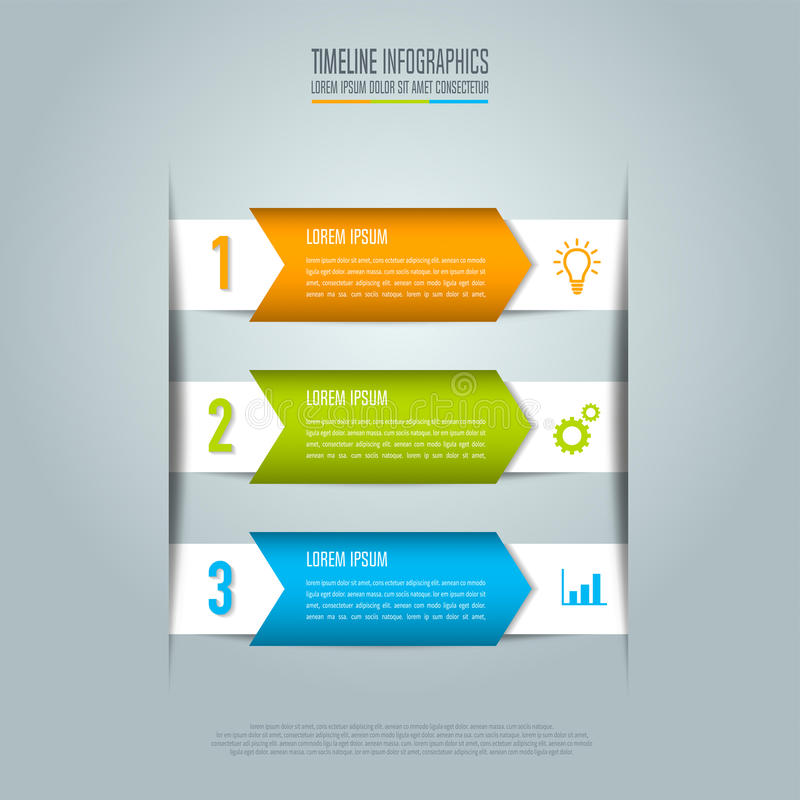 Creative Concept For Infographic Timeline Business Concept With - Unique outline template for presentation concept