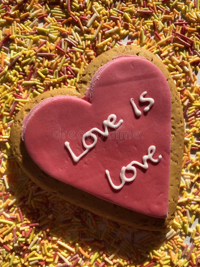 Creative Concept, Love and Romance, Love is Love royalty free stock photography