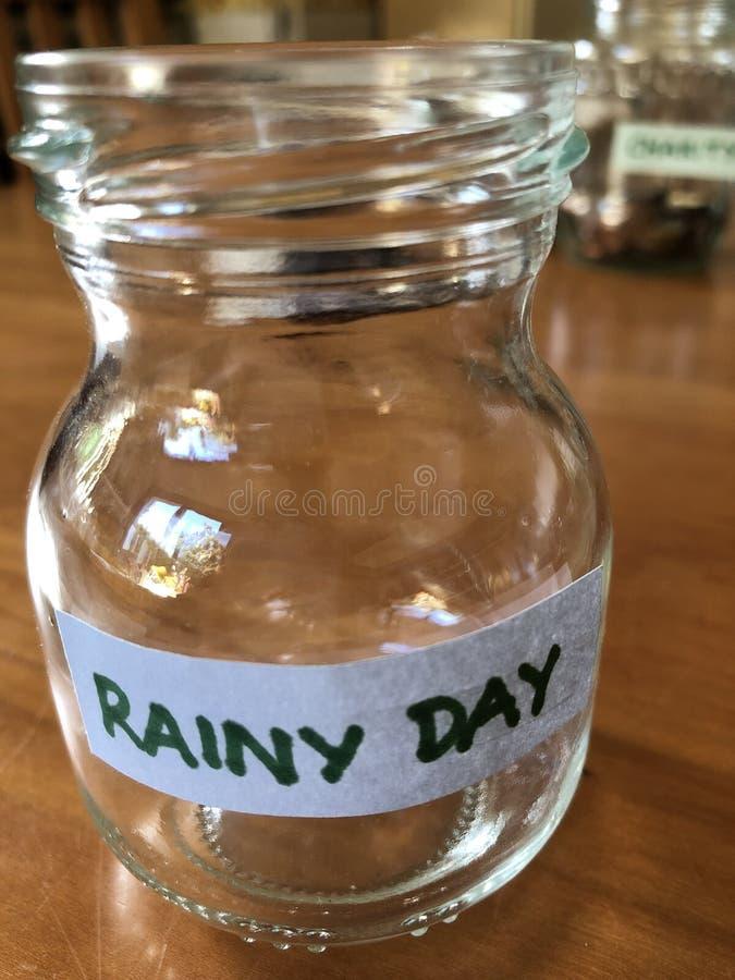 Creative concept, Saving money in a jam jar royalty free stock photos
