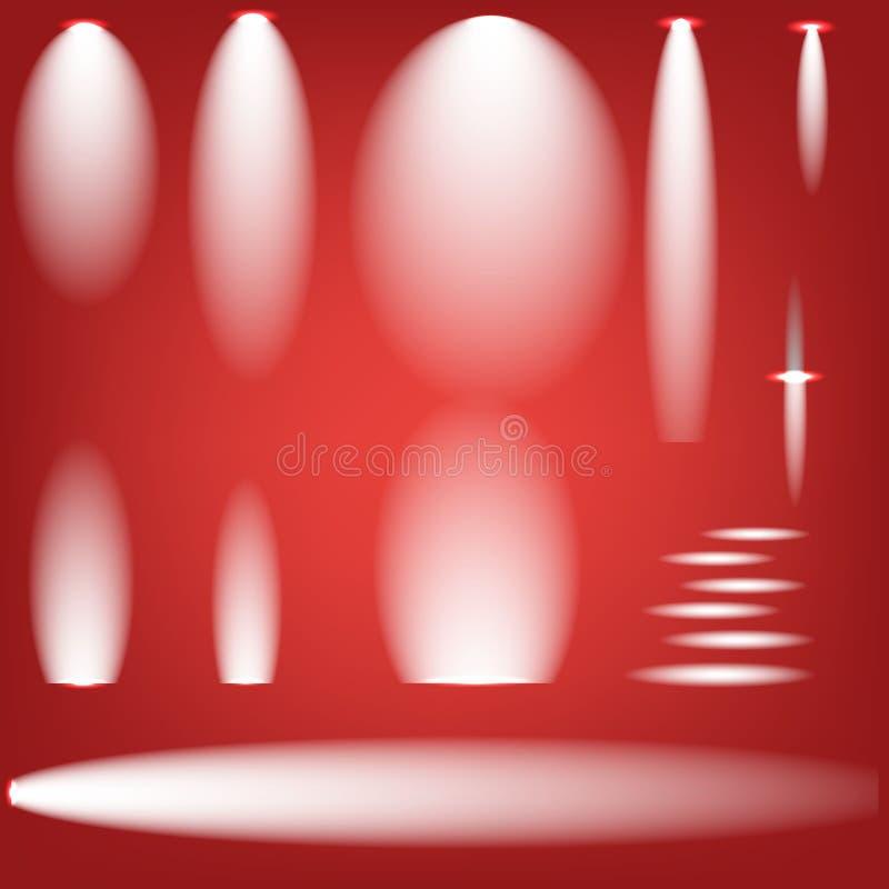 Creative concept Vector set of glow light effect stars bursts with sparkles on black background. For. Illustration template art design, banner for Christmas stock illustration