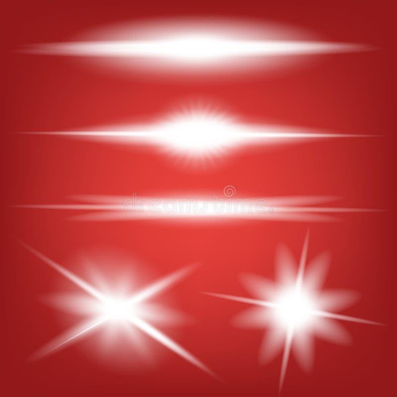 Creative concept Vector set of glow light effect stars bursts with sparkles on black background. For. Illustration template art design, banner for Christmas vector illustration