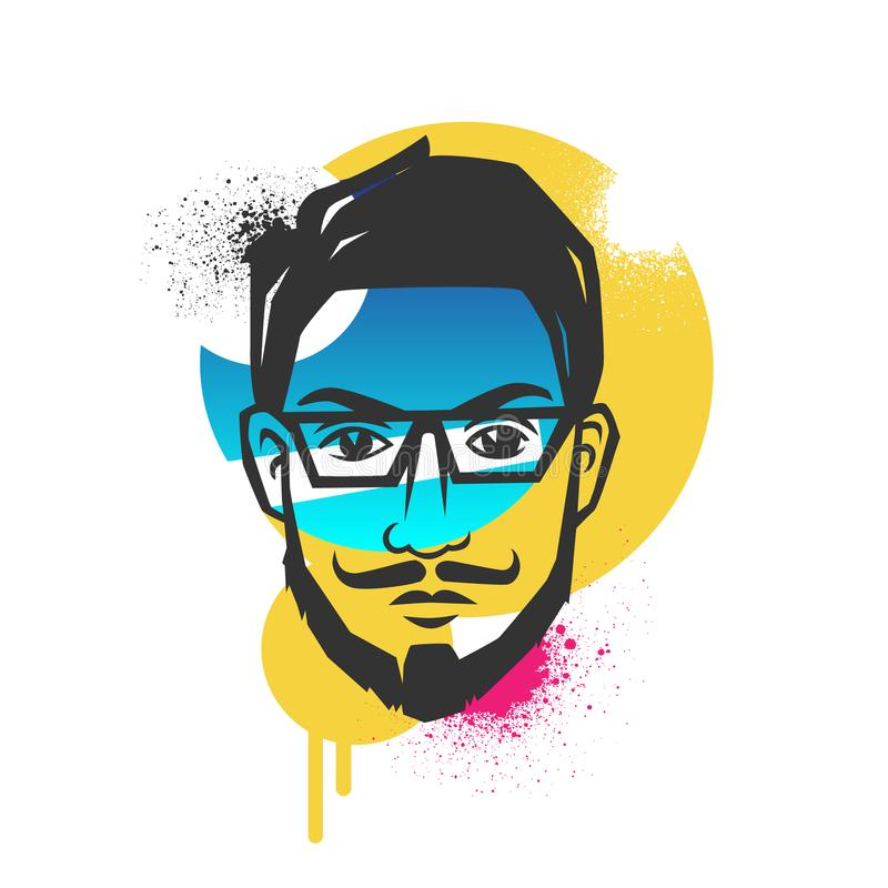 Creative concepts of a face. vector illustration