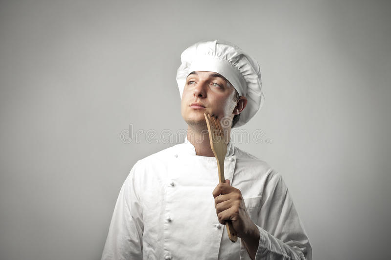 Download Creative cook stock photo. Image of portrait, chef, fork - 20397110
