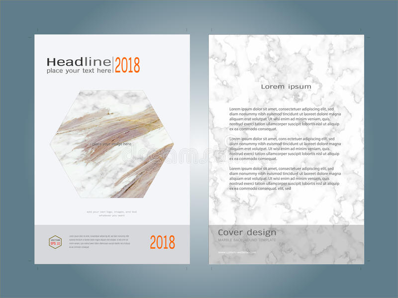 download creative cover design layout template marble texture background inspiration for your design stock