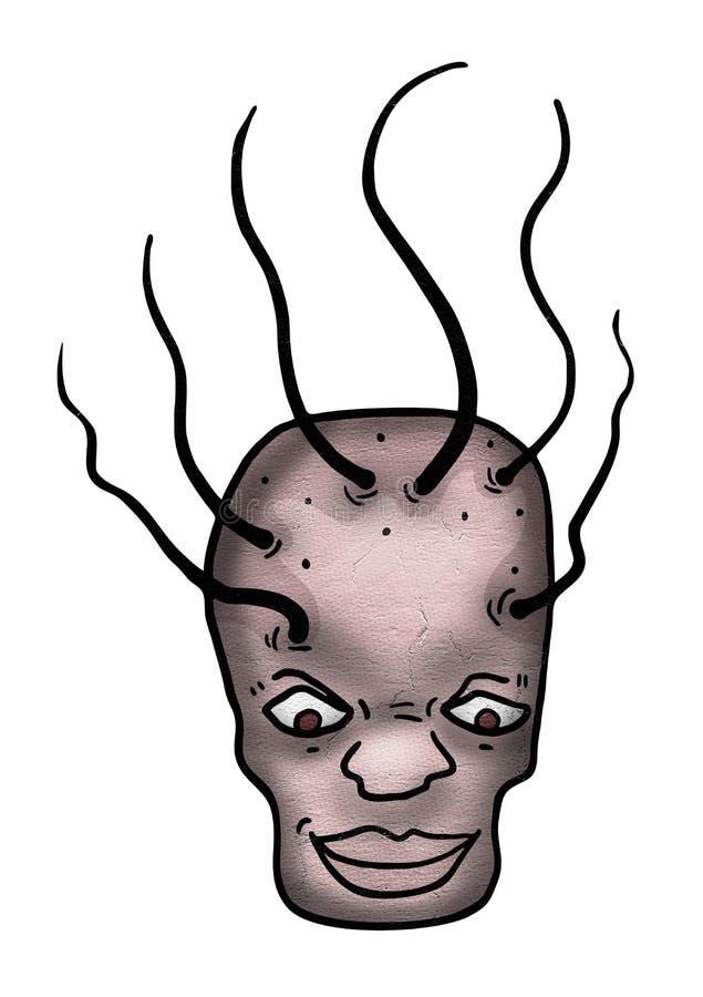 Creative crazy face vector illustration