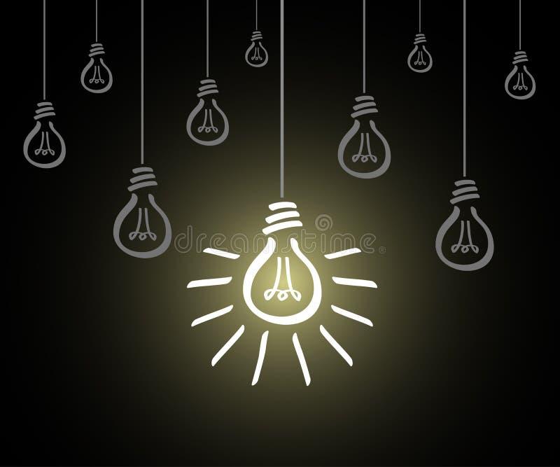 Creative creation ideas bulb, new idea sign, set hanging bulb - vector. Creative creation ideas bulb, new idea sign, set hanging bulb - stock vector vector illustration