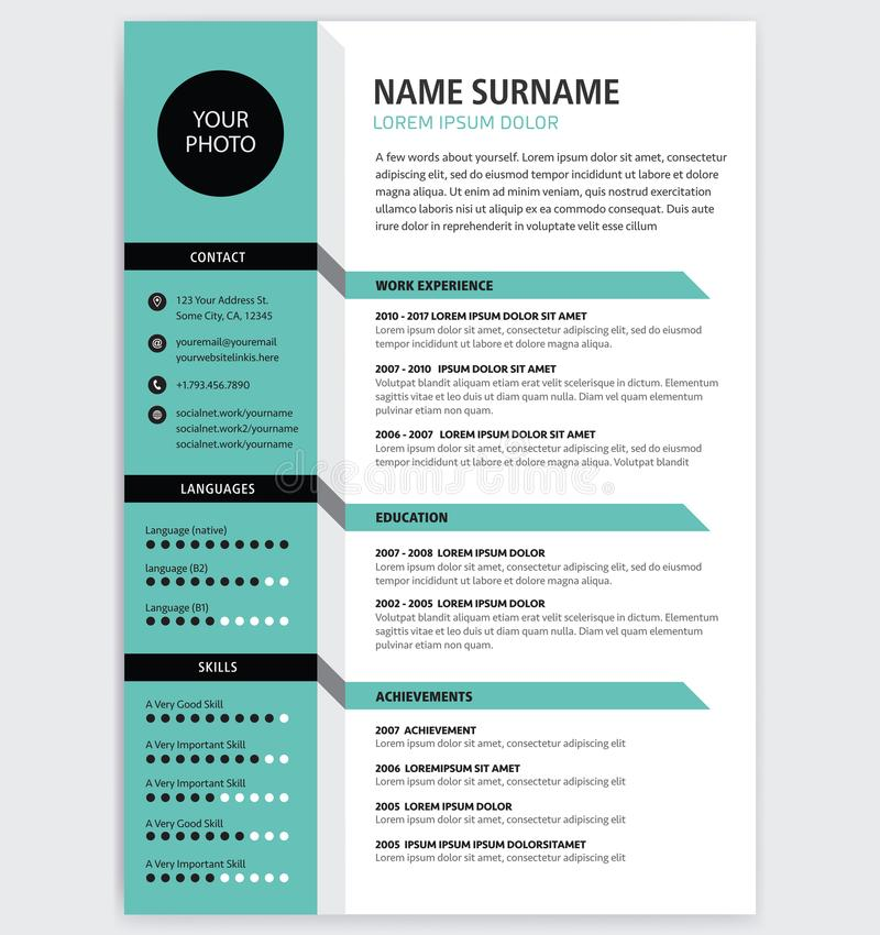 color on resume