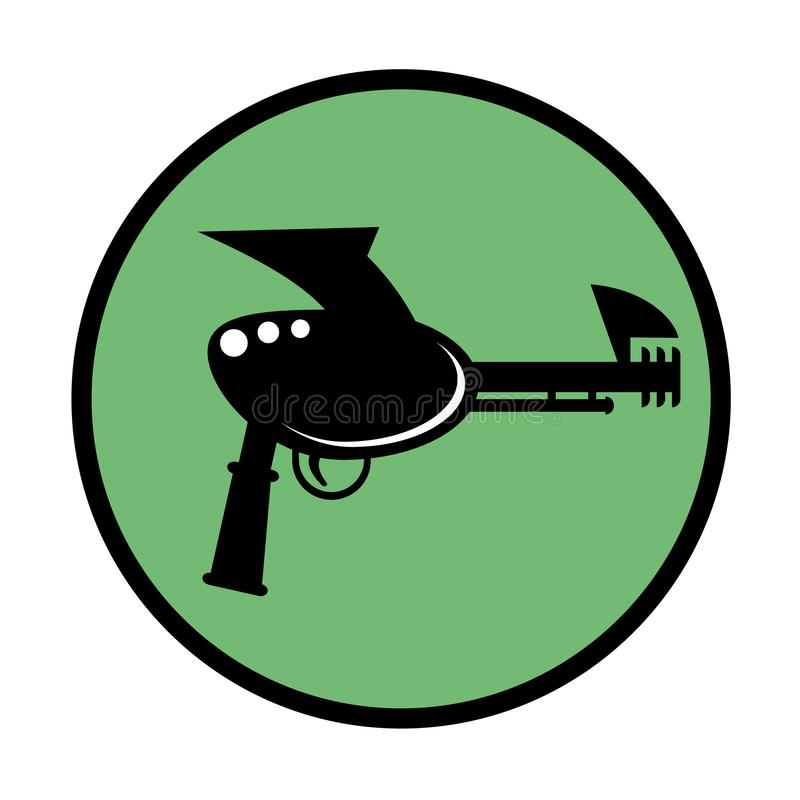 Alien blaster icon. Creative design of Alien blaster icon vector illustration