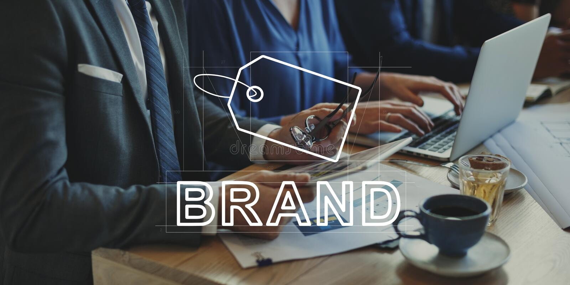Creative Design Brand Identity Marketing Concept royalty free stock image