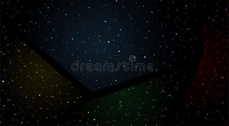 Color art universe background vector illustration