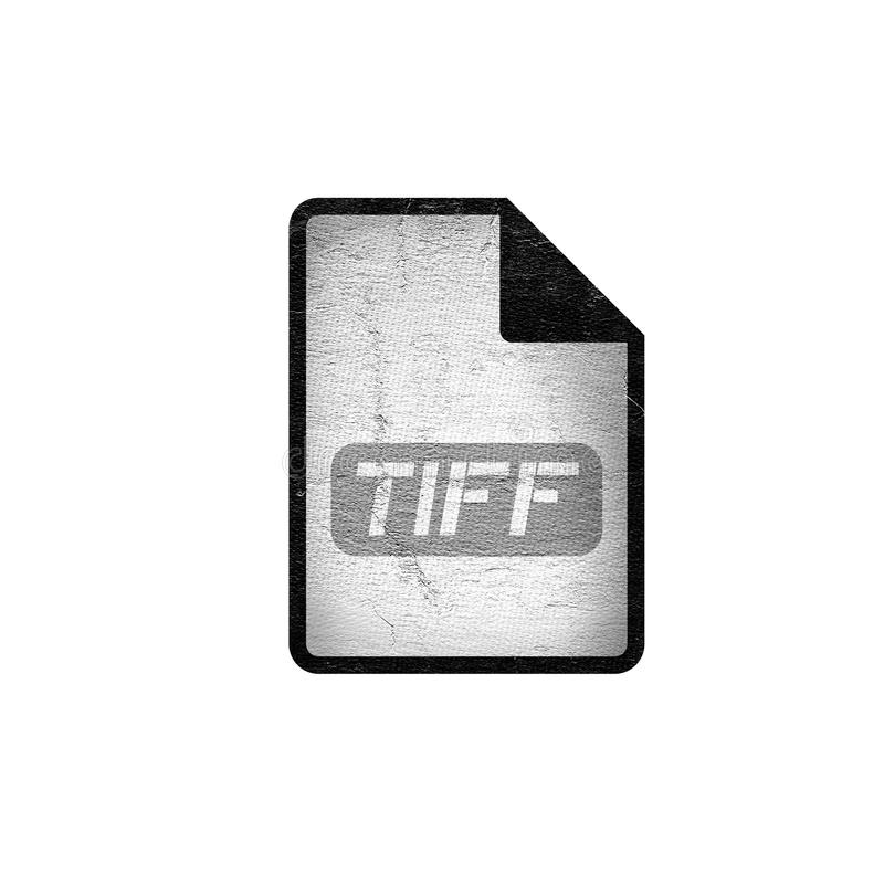 Computer tiff file icon royalty free illustration