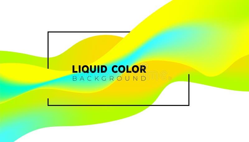 Creative design 3d flow shape royalty free illustration