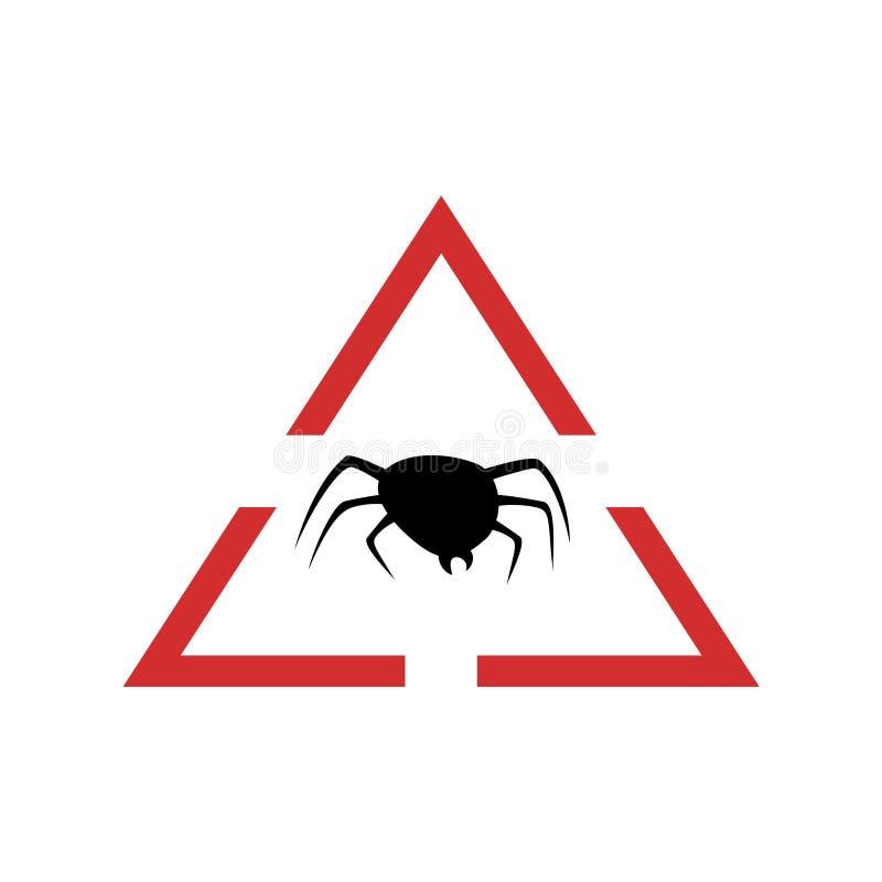 Danger flea symbol. Creative design of Danger flea symbol royalty free stock photography
