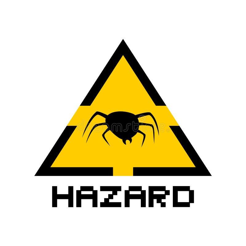 Danger flea symbol. Creative design of Danger flea symbol stock photography