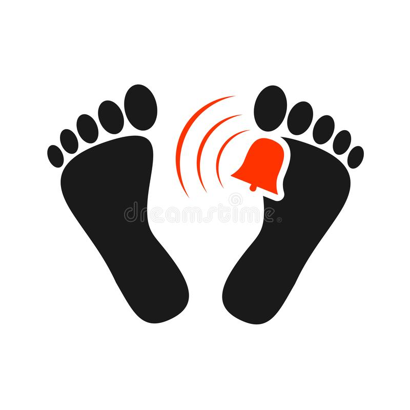 Dead man foot icon stock illustration