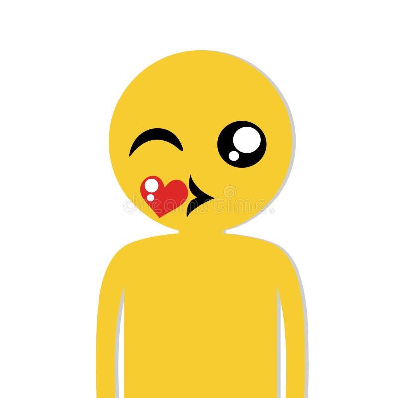 Face kissing. Creative design of Face kissing vector illustration