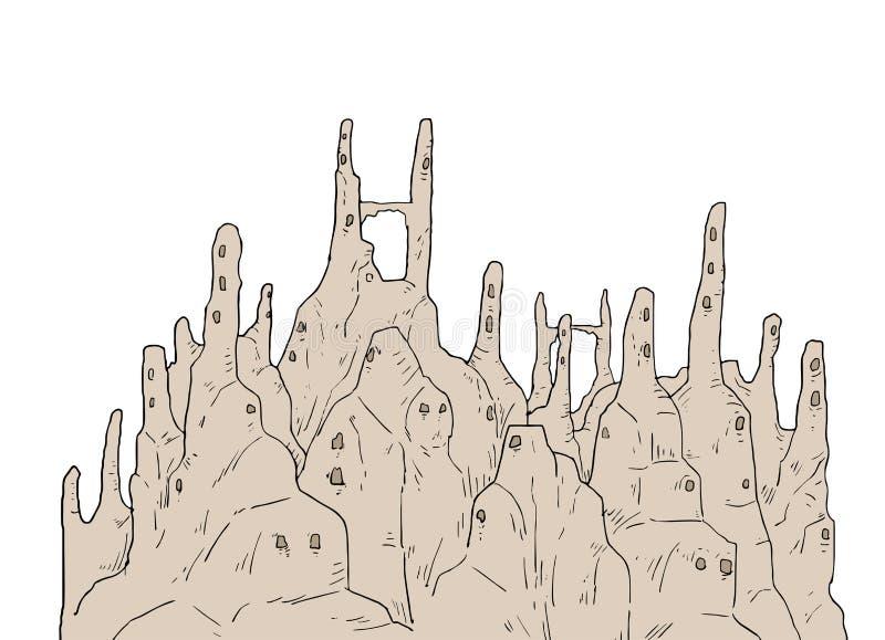 Fantasy cavern illustration. Creative design of fantasy cavern illustration royalty free illustration