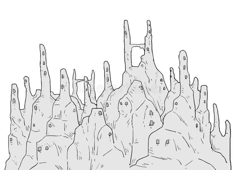 Fantasy cavern illustration. Creative design of fantasy cavern illustration stock illustration