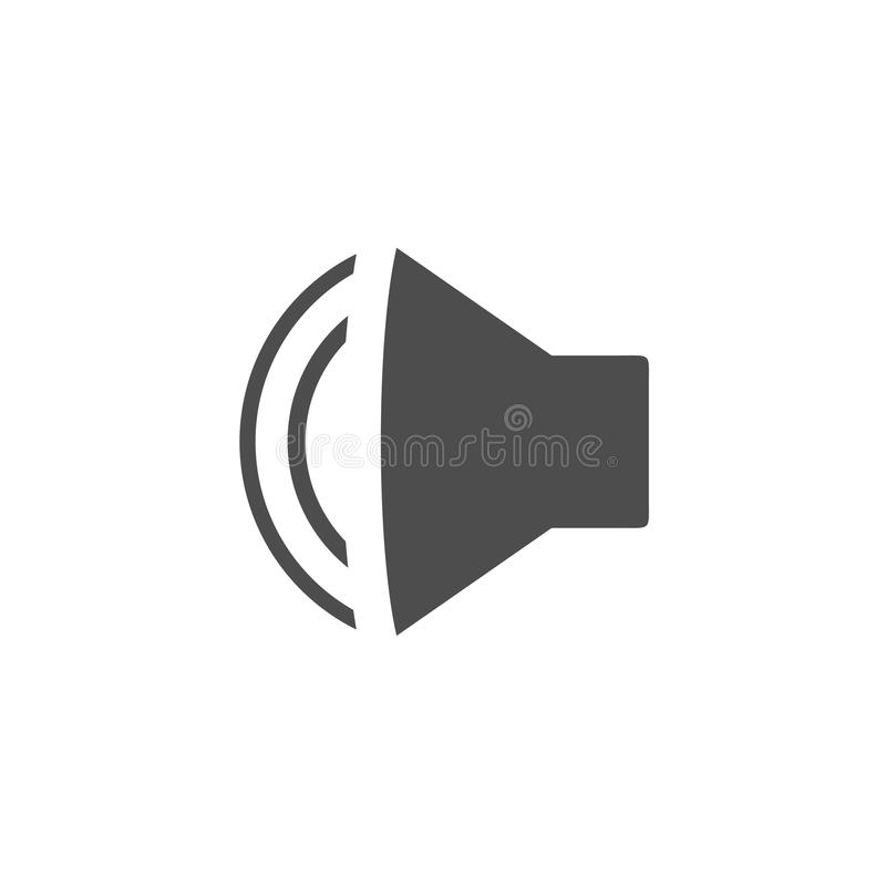 Flat speaker symbol royalty free illustration
