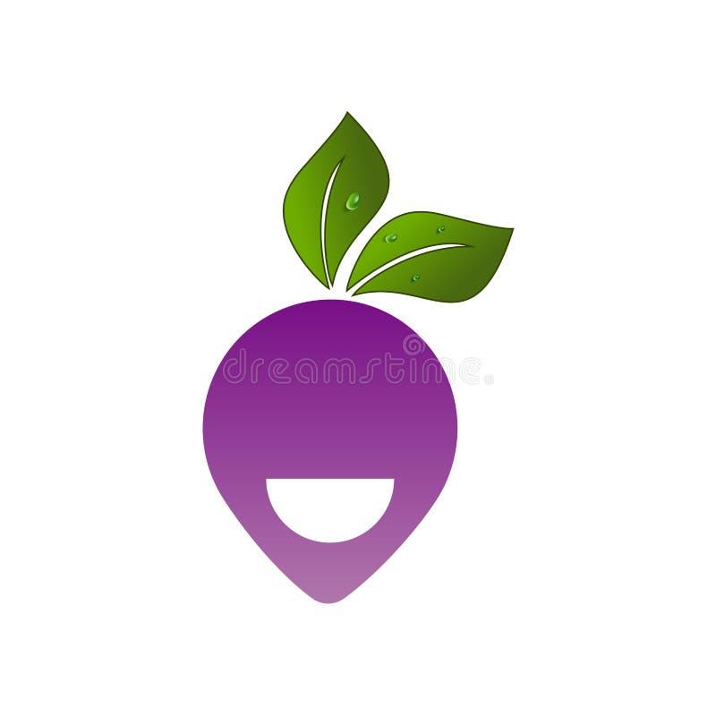 Vector fruit logo creative design stock illustration