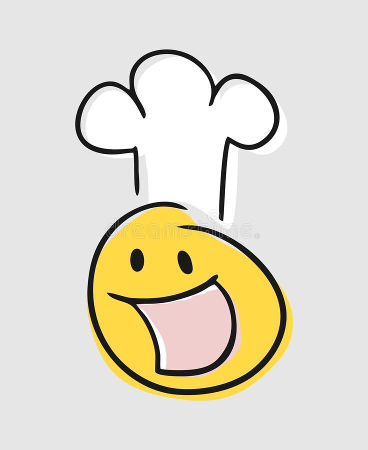 Happy chef face royalty free illustration
