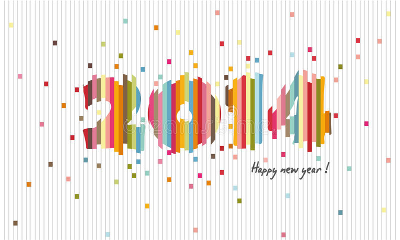 Creative design 2014, Happy new year, Cutting paper. Creative design 2014 for graphic design royalty free illustration