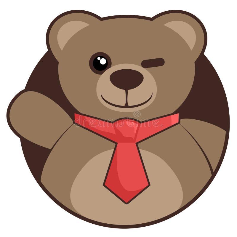 Hello bear. Creative design of hello bear royalty free illustration