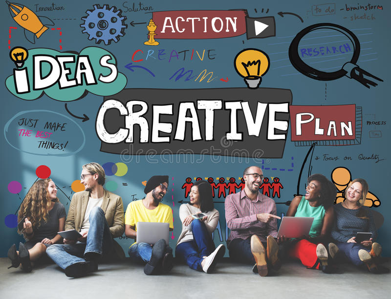 Creative Design Innovation Inspire Concept royalty free stock photography