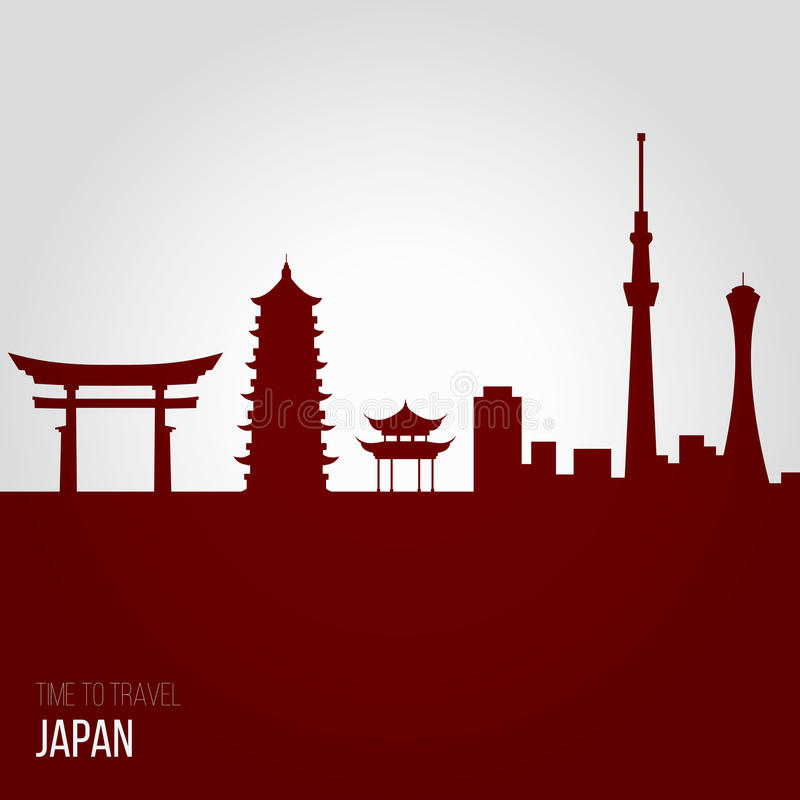 Creative design inspiration or ideas for Japan. Association and attractions vector illustration