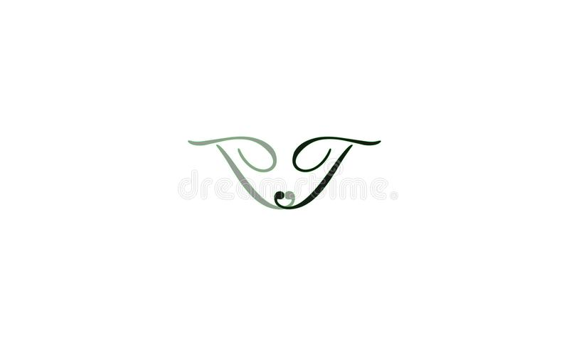 Creative design logo. With a combination of green and black royalty free illustration