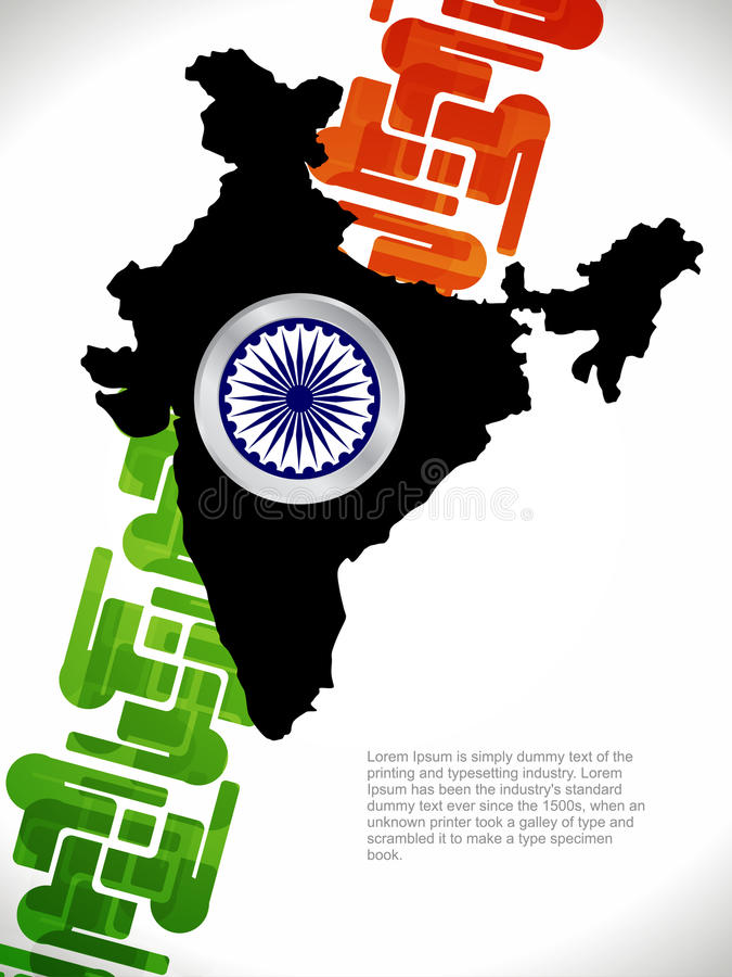 Download Creative Design With Map Of India Stock Vector - Image: 26914295