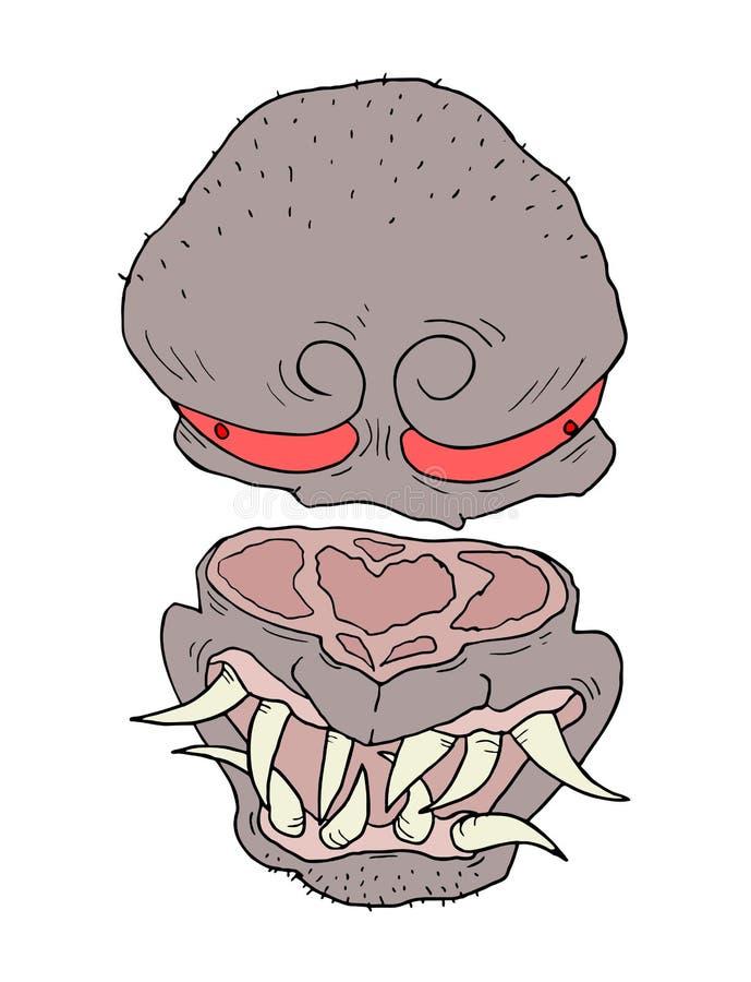 Monster face. Creative design of monster face stock illustration